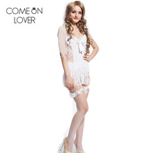 CE88058 Comeonlover Top selling lenceria sexy new fashion lace sexy white dress special design women sexy plus size lingerie(China)