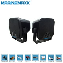 "Marine Speakers Waterproof Stereo 100W 4"" Box Speakers System Wall Mounting IP66 Boat Yacht Outdoor Swimming Pool Motorcycle"