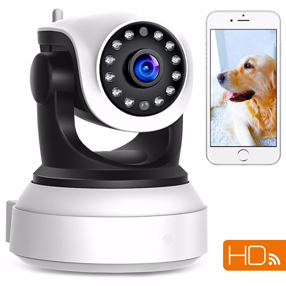 FGHGF 720P Wireless IP Security Camera Baby Pet Video Monitor Home Security System with Pan and Tilt/Two Way Audio /Night Vision<br>