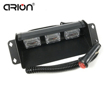 CIRION New Super Bright 9 LED 9W Amber White Blue Red Strobe Warning Light Emergency Strobe Policeman Fireman lamp Free Shipping