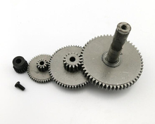 4 in 1 steel gear set kit stainless steel reduction gear rack alloy gears 0.5-1 modulus gear set for 3mm 4mm 5mm 6mm motor shaft(China)