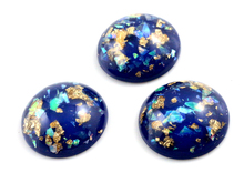 New Fashion 5pcs 25mm Blue Color Shell Fashion Style Flat Back Resin Cabochons Cameo G4-20(China)