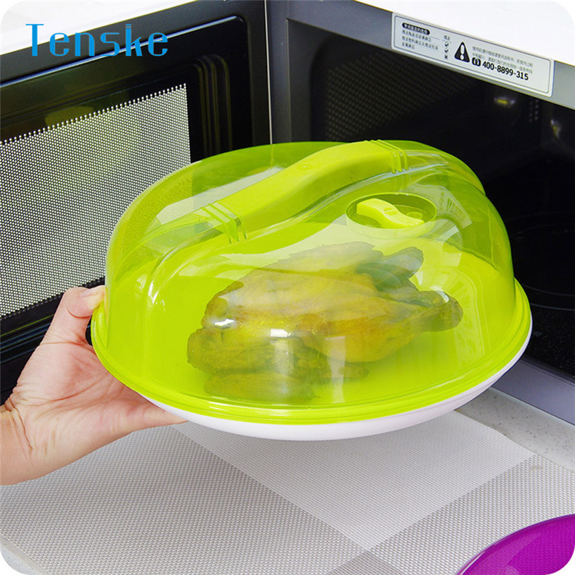 Microwave Food Cover Plate Vented Splatter Protector Oven Oil Cap Heated Sealed Plastic Cover Dish Dishes Dust Cover u70901(China)