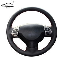 Steering wheel braid for Mitsubishi Lancer EX10 Lancer X Outlander ASX Colt Pajero Sport/Custom made Steering cover(China)