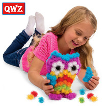 QWZ 400pcs/Set Assemble 3D Puzzle DIY Puff Ball Squeezed Ball Creative Thorn Clusters Handmade Educational Toys Birthday Gifts(China)