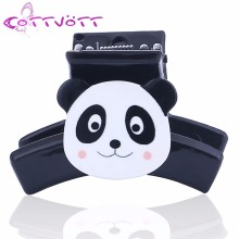 Korean Cute Small Mini Panda Animal Hair Claws Kids Girls Gift Acrylic Ponytail Fringe Hair Jaw Clips Grasp Accesories FZ05