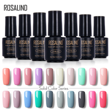 ROSALIND Black Bottle 7ML Pure Color 58 Colors 31-58 UV Gel Nail Polish Nail Gel Long-lasting Macaron Gel Polish(China)
