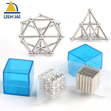 Neodymium Magnet Bars & Metal Balls Magnetic Construction Creative Toys DIY Gifts Office Pressure Release Buck Balls