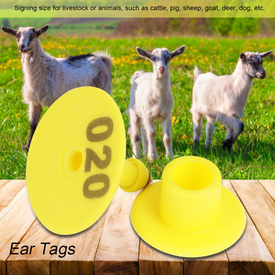 100 Pc Sheep Goat Pig Cattle Cow Livestock Animals Ear Number Tag 001-100 Set
