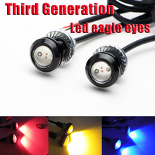 Car brake light 7000K 2*3W 12V Red decorative LED Eagle Eye Lights Driving Daytime Running auto Led eagle eye bulb 5color option