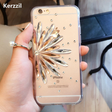 Buy Kerzzil Sunflower 3D Rhinestone phone case iPhone 6 6S / Plus Diamond Case Luxury Bling iPhone 6 6s Plus for $2.94 in AliExpress store