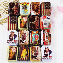 High Quality Mini Mac Cosmetic Lipstick Organizer Metal Tin Box Mini Tea Box 16Piece/Lot Vintage Jewelry Case Wedding Favor Box