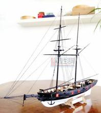 LOVE MODEL Free shipping 1:100 Scale Wooden Sailboat Halcon1840 Model Ship + life boat + Brass updates kits(China)