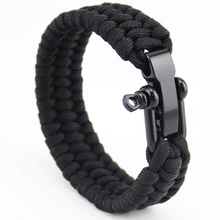 New Arrival Mens Stainless Steel Anchor Shackles Black Leather Bracelet Surf Nautical Sailor Men Wristband Fashion Jewelry(China)