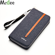 Men Wallets 2017 Fashion Canvas Chinese Purse Big Clutch Wallet Man Wallet Zipper Handbags Paper Money Carteira Masculina UB116