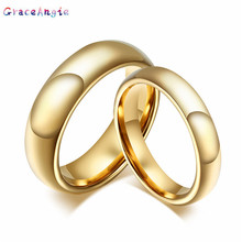 Fashion Gold Couple Ring Women Men Tungsten steel Love Promise Jewelry wedding bands couples rings anillos de boda anel ouro New