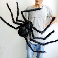 Free Shipping Halloween Decoration wholesale Spider Haunted House Prop Random Ship black colorful75cm Indoor Outdoor Decor Props