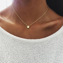 2017 New Women chocker gold Silver Chain star choker Necklace Jewelry collana Kolye Bijoux Collares Mujer Collier Femme joyas