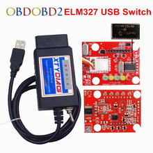ELM327 USB With PIC18F25K80 Chip OBD2 Code Reader Scanner For Ford HS/MS CAN FORScan ELM 327 Switch USB Car Diagnostic Tool