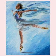 100% Handmade High Quality Modern Wall Art Ballet Dancers Palette Knife Oil Painting On Canvas For Wall Decoration OR Home Decor(China)