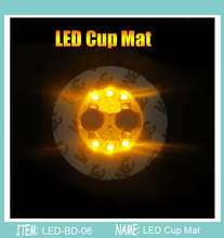 500pcs/Super bright 3mm 6 LED Flashing Lights Bulb Bottle Cup Mat Coaster LED glorifier mini glow stick For Clubs Bars Party(China)