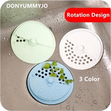 10pcs New Creative Silicone Kitchen Sink Strainer Filter Round Shape Rotation Design Sewer Drain Cover Stopper(China)