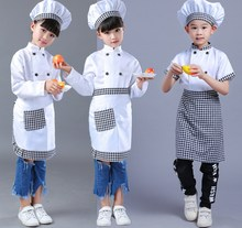 Buy Girls Boy Halloween Cosplay Costume Chef Uniform Kids Kindergarten Games Cooking Clothing Child Kitchen Work Wear Clothes 89 for $16.89 in AliExpress store