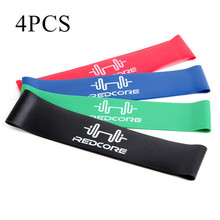 Buy 4pcs/set Gym Fitness Equipment Strength Training Latex Elastic Resistance Bands Workout Crossfit Yoga Rubber Loops Sport Pilates for $7.09 in AliExpress store