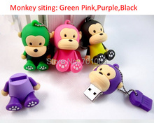 Free Shipping : 50pcs Siting lovely Monkey usb flash drive 4GB 8GB 16GB 32GB  memory stick