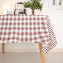 1Pcs Classic Plaid Cotton+Linen Thick Tablecloth / table Cover for Dining Table Tea Towel Accept Customized 8 Sizes