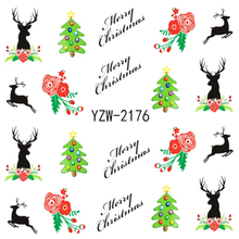 YWK DIY Water Transfer Christmas Design Manicure Nail Art Tips Stickers Decals Decoration 2176(China)
