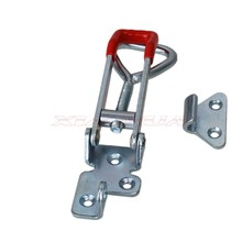 2pcs Quick adjustable locking clip Toggle Latch Metal Adjustable Toggle Latch Toggle Clamp with 3 Mounting holes