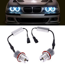 Vehemo 1 Pair DC 12V Car LED Angel Eye Light For BMW E39 Accessories 40W 3500LM(China)