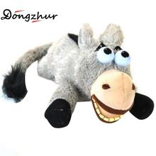 Dongzhur New Peculiar Plush Donkey Toy Induction Voice Control Laughing Electric Toys Children's Plush Toys Gray Roll Donkey