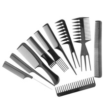10pcs/Set Professional Hair Brush Comb Salon Barber Anti-static Hair Combs Hairbrush Hairdressing Combs Hair Care Styling Tools(China)