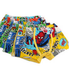 3Pcs High Quality Fashion Children Underwear Cartoon Spiderman Cotton Boy Underwear Panties 3-5 Years Breathable Kids Boxer