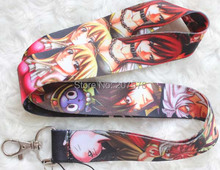 New  10pcs cartoon  Japanese anime Fairy Tail Key Chains Mobile Cell Phone Lanyard Neck Straps Free shipping H-93