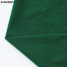 50*140cm Grass Green Fleece Fabric Plush Cloth for Doll Pillow Sewing Plain Dyed Knitted Velvet Fleece Tissue Tricot Felt(China)