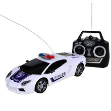 4 Channels BOHS RC 911  Patrol  Car  White Radio Control Remote Control Cop Paddy Wagon Black Maria with Light Toy 19*7.5cm