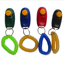 Useful Dog Training Clicker Wrist Strap Pet Training Clicker Set High Quality Plastic Dog Training Clickers Color Randomly(China)