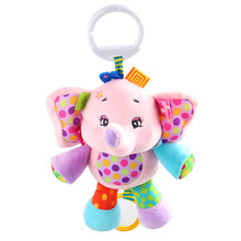 Jollybaby Cute Pull & Play Melody Musical Plush Stuffed Animal Baby Infant Comfort Crib Hanging Toys Gift FJ88(China)