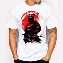 Newest 2017 men's fashion short sleeve Samurai Warrior t-shirt funny tee shirts Hipster O-neck popular tops(China)