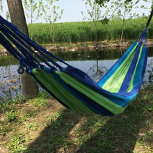 Hanging chair Furniture Hamaca Portable Outdoor Garden Hammock Hang  Travel Camping Swing Canvas Stripe  indoor children swing