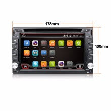 4.4 Android Car DVD Stereo camera 1.2GHZ Quad 4 Core Capacitive Double 2 Din Car PC CD GPS BT WiFi 3G Radio HD Parking