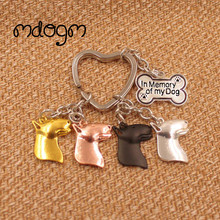 2017 Cute Bull Terrier Dog Animal Gold Silver Plated Metal Pendant Keychain For Bag Car Women Men Girls Boys Funny Jewelry K067(China)