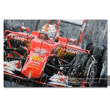 Top Skills Painter Directly Supply High Quality Hand-painted Racing Car Oil Painting on Canvas Abstract Race Oil Painting