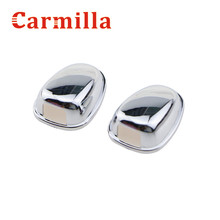 Carmilla Car Front Machine Cover ABS Chrome Water Spray Nozzle Cover Sticker For Peugeot 2008 Year 2014 2015 Modified Sticker(China)