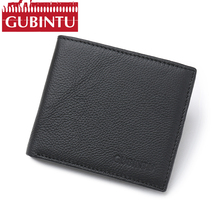 Buy GUBINTU Genuine Leather Men Wallet Short Male Purse Card Holder Wallet Famous Brand RFID Blocking Purse Cowhide portefeuille for $10.99 in AliExpress store