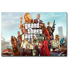 NICOLESHENTING Grand Theft Auto V Art Silk Poster Huge Print 12x18 32x48 inches GTA 5 Game Pictures For Living Room 25