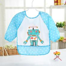 Kid Draw Clothing Infant Waterproof Meal Robot Pattern Baby Rice Apron Feeding Saliva Lunch Burp Cloths Infant Apron